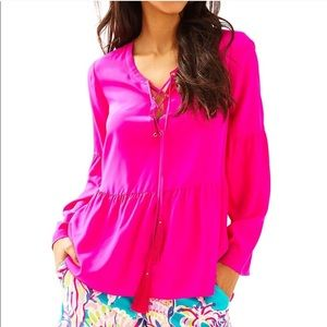 Lilly Pulitzer Milan Blouse Top
